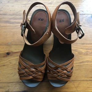 H&M Leather Wedges